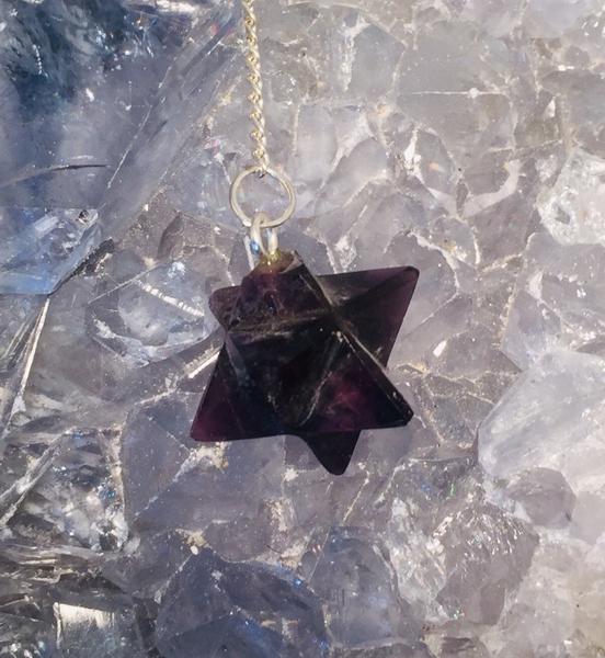 Bilde av Merkaba pendel i ametyst 1cm