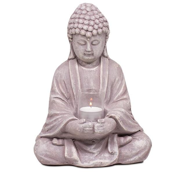 Bilde av Buddha Telysholder 28cm
