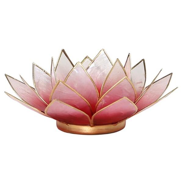 Bilde av Lotus Rødrosa Telysholder
