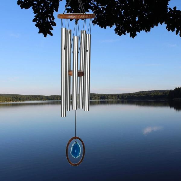 Bilde av Agat Large Blue Vindklokke