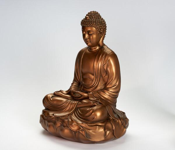 Bilde av Buddha 29 cm Gull
