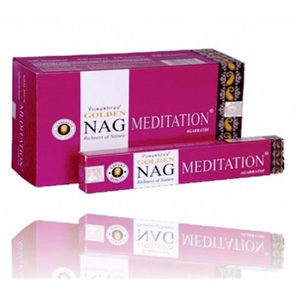 Bilde av Golden Nag Meditation Røkelse