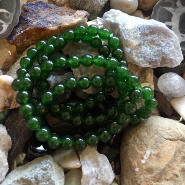 Bilde av Armbånd Mørk Grønn Jade