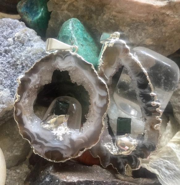Bilde av Geodeanheng Sølv m/Turmalin