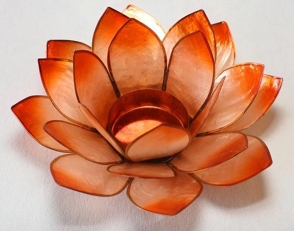 Bilde av Lotus Lys Chakra 2 Orange