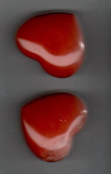 Bilde av Jaspis, Rød Hjerte 4,5cm