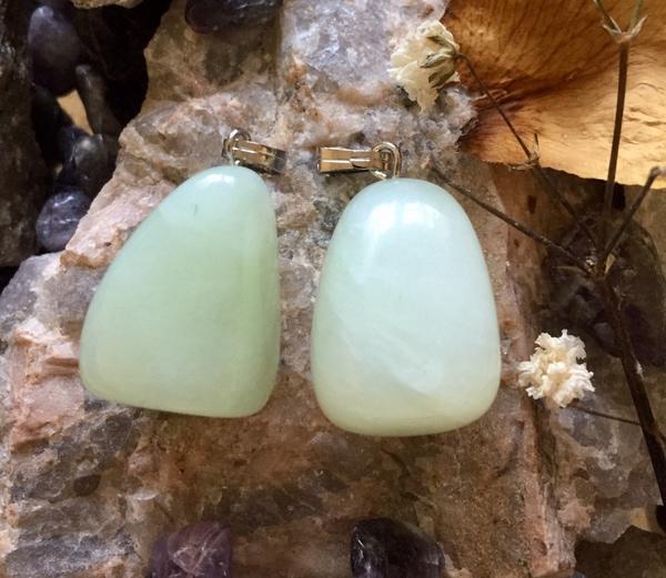 Bilde av Jade, Grønn Tromlet Anheng