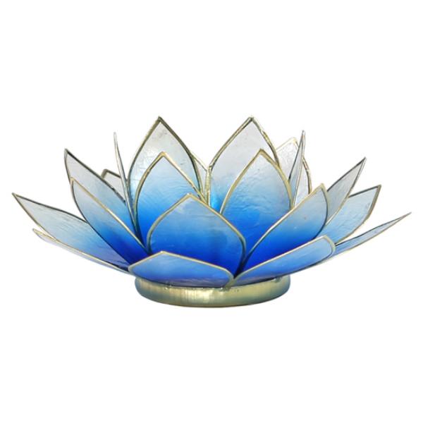 Bilde av Lotus Lys Blåhvit