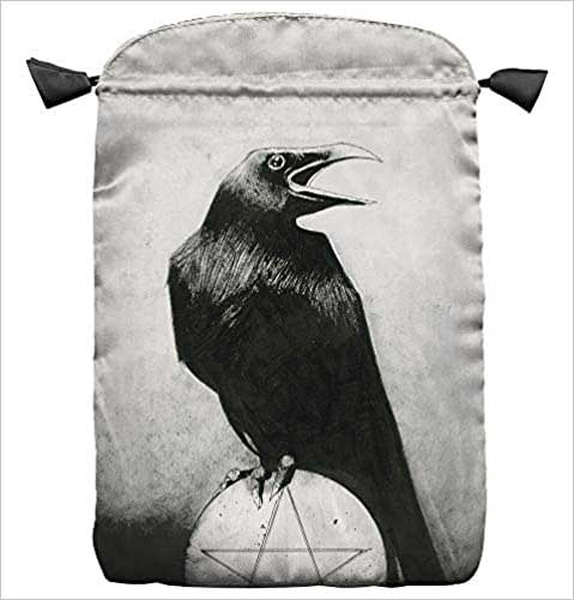 Bilde av Crows Satin Tarot Bag