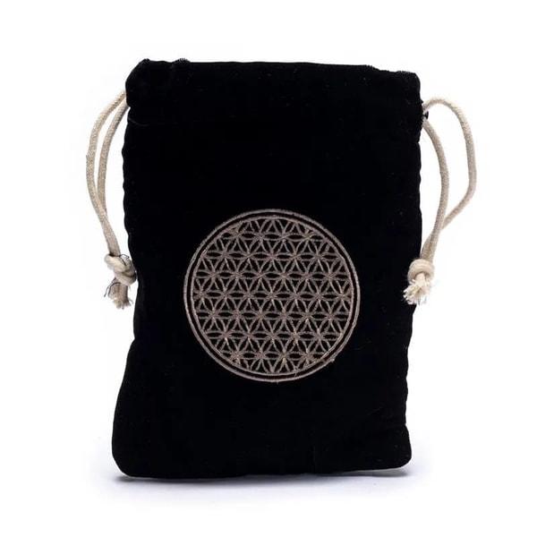 Bilde av Velvet Bag Flower of Life -