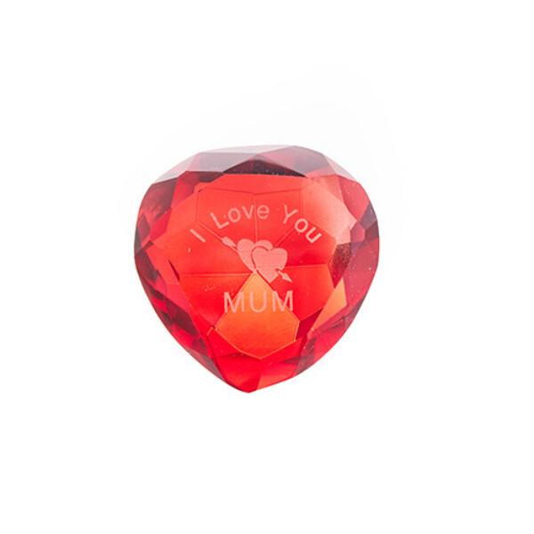 Bilde av I love You Mum Diamant Hjerte