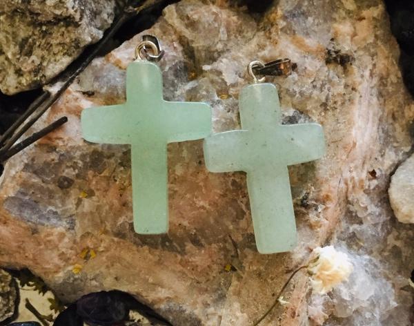 Bilde av Kors, Aventurin Grønn