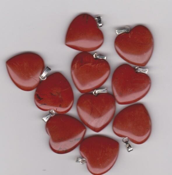 Bilde av Rød Jaspis Hjerte 2cm