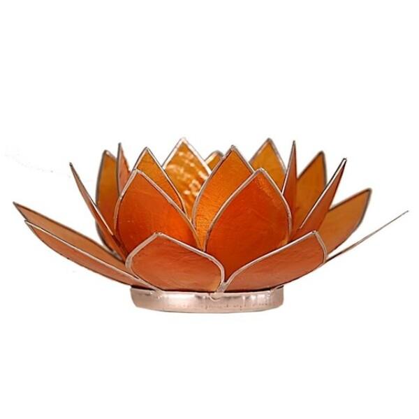 Bilde av Lotus Lys Oransje Chakra 2