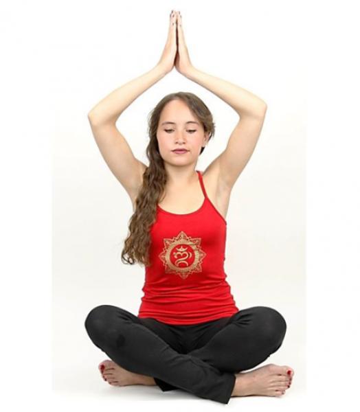 Bilde av Yoga top 'Ohm bali' red L
