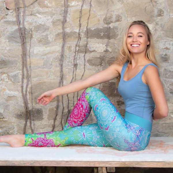 Bilde av Yoga leggings Caribic Blue
