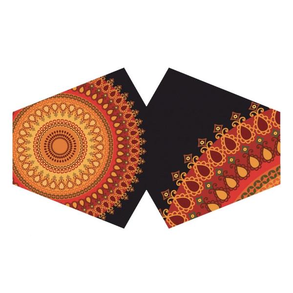 Bilde av Munnbind Oransje Mandala