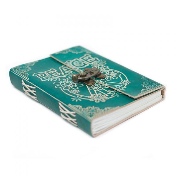 Bilde av Skrivebok i Lær - Peace
