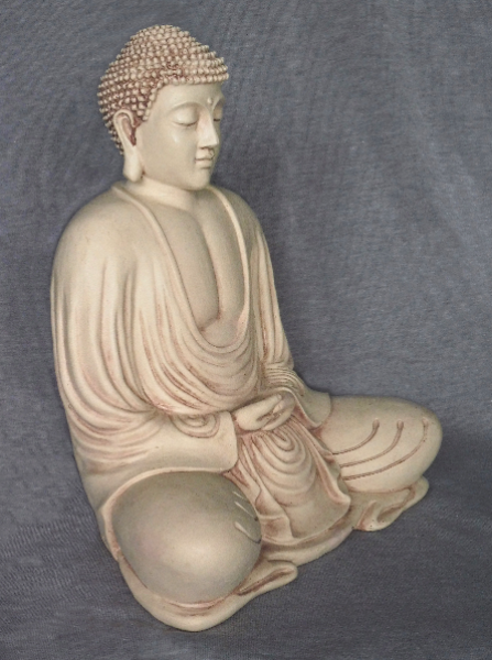 Bilde av Hvid have-Buddha
