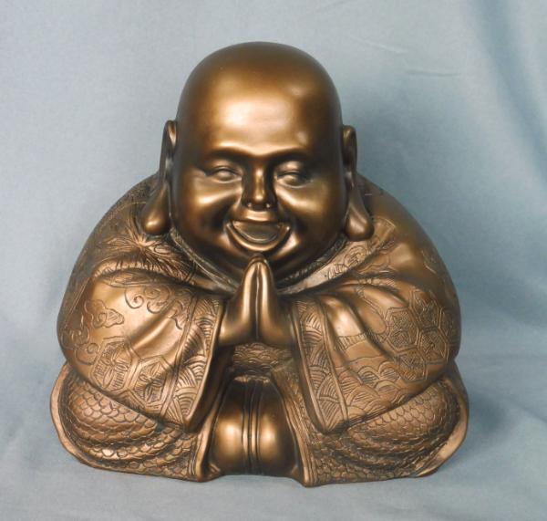 Bilde av Happy Buddha 20 cm BRONZE