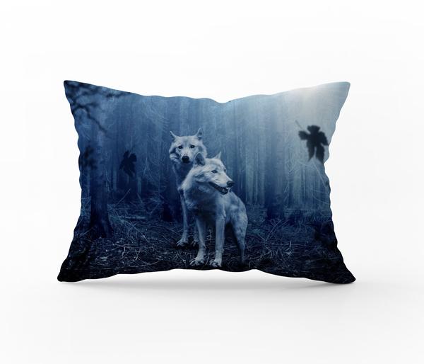 Bilde av Örngott Misty Wolves 50x60