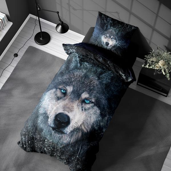 Bilde av Påslakanset Wolf Blue
