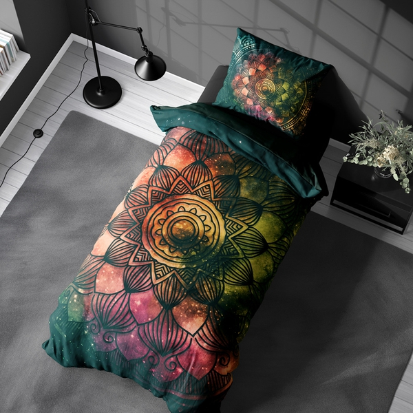 Bilde av Påslakanset Mandala Green