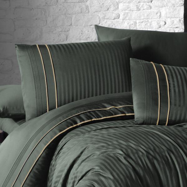 Bilde av Örngott Deluxe Stripe Style Dark Green 50x60