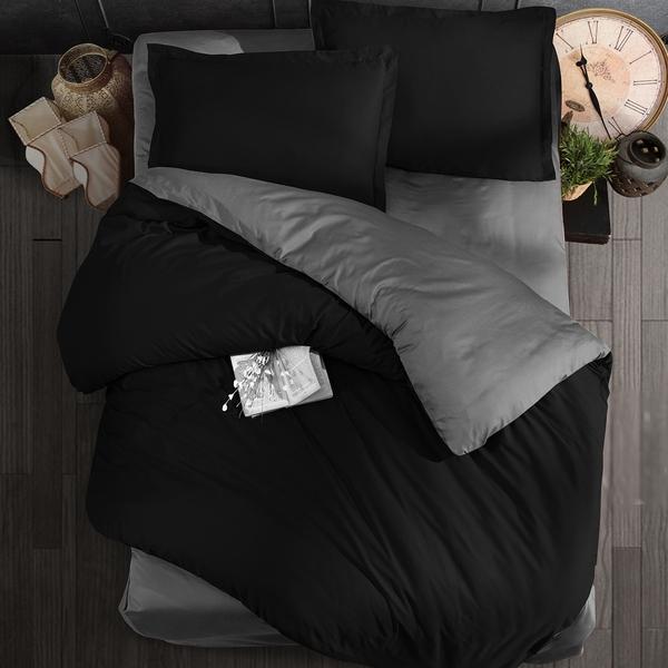 Bilde av Påslakanset Milano Black & Grey