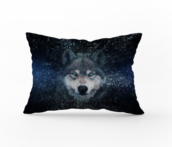 Bilde av Örngott Wolf Blue 50x70