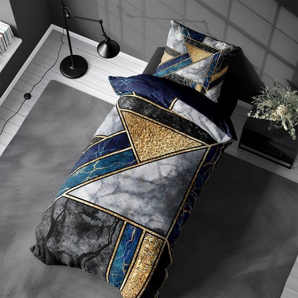 Bilde av Påslakanset Marble Art Blue