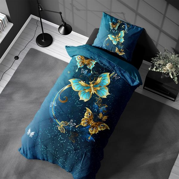 Bilde av Påslakanset Butterfly Blue