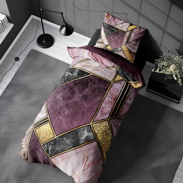 Bilde av Påslakanset Marble Art Purple