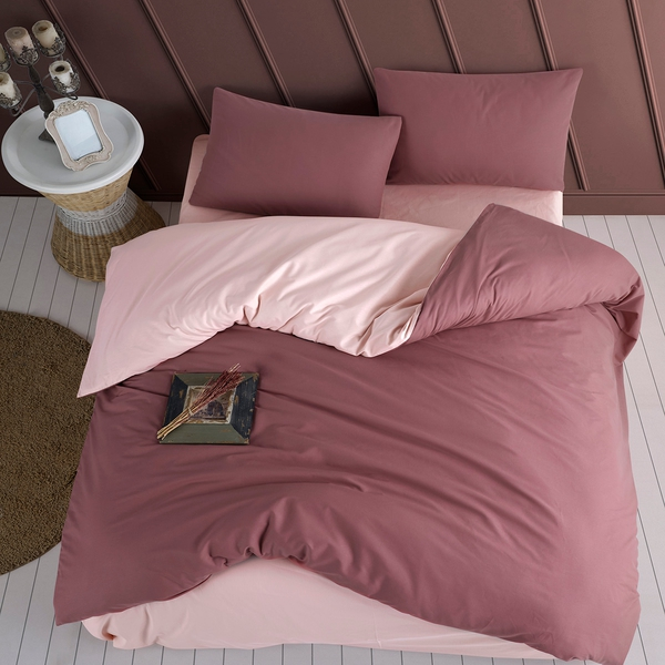 Bilde av Påslakanset Solid Color Rose-Pink