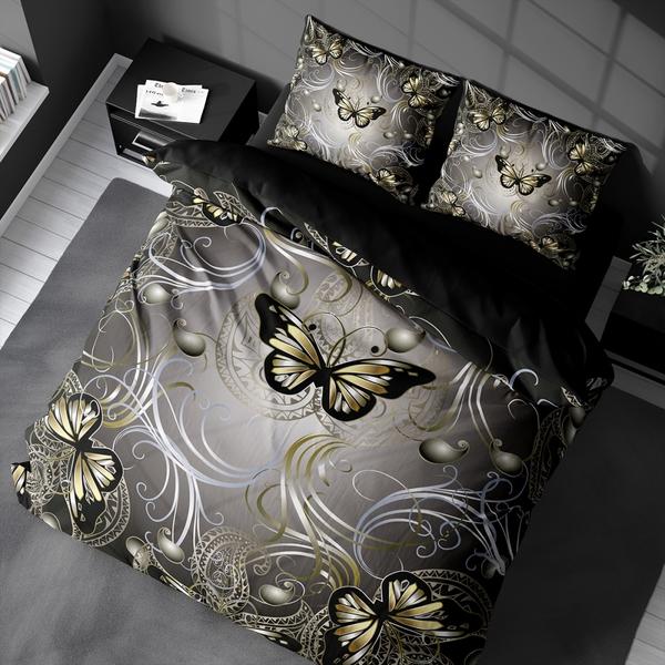 Bilde av Påslakanset Butterfly Gold