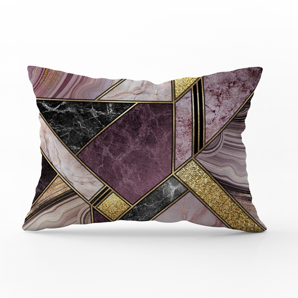 Bilde av Örngott Marble Art Purple 50x70