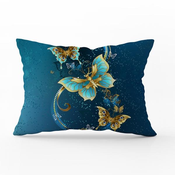 Bilde av Örngott Butterfly Blue 70x100