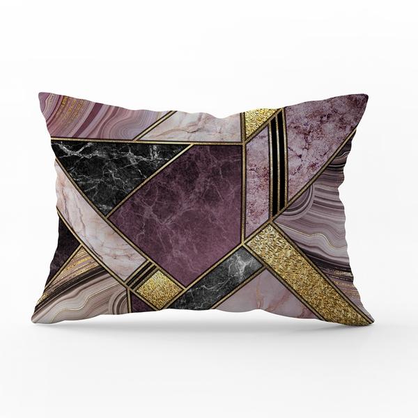 Bilde av Örngott Marble Art Purple 70x100