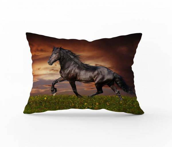 Bilde av Örngott Horse Brown 50x70