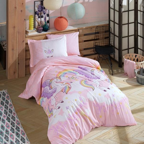 Bilde av Påslakanset Magical Pink till dubbeltäcke