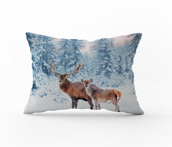 Bilde av Putetrekk Winter Deer Flanell 50x70