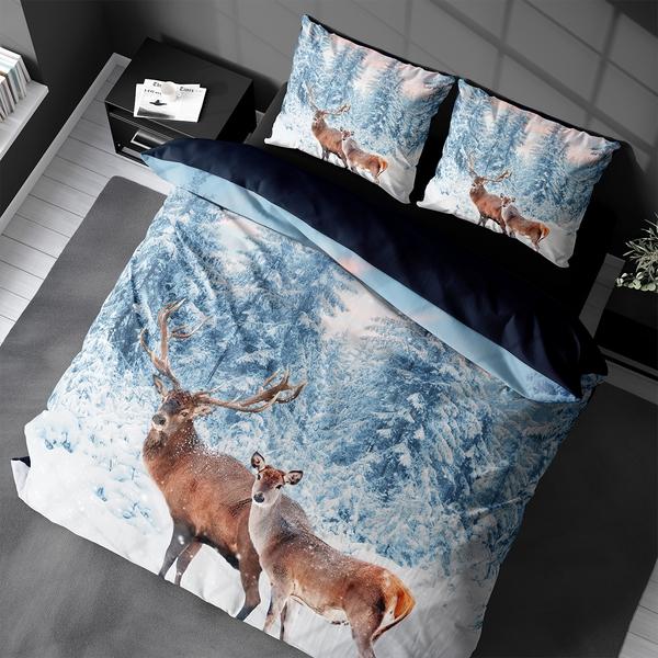 Bilde av Sengesett Winter Deer Flanell