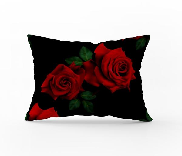 Bilde av Putetrekk Roses Red 50x70