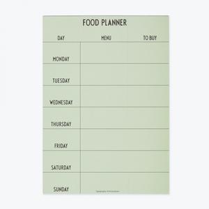Bilde av Weekly Food Planner green,