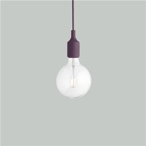 Bilde av MUUTO E 27 Lamp, Burgundy