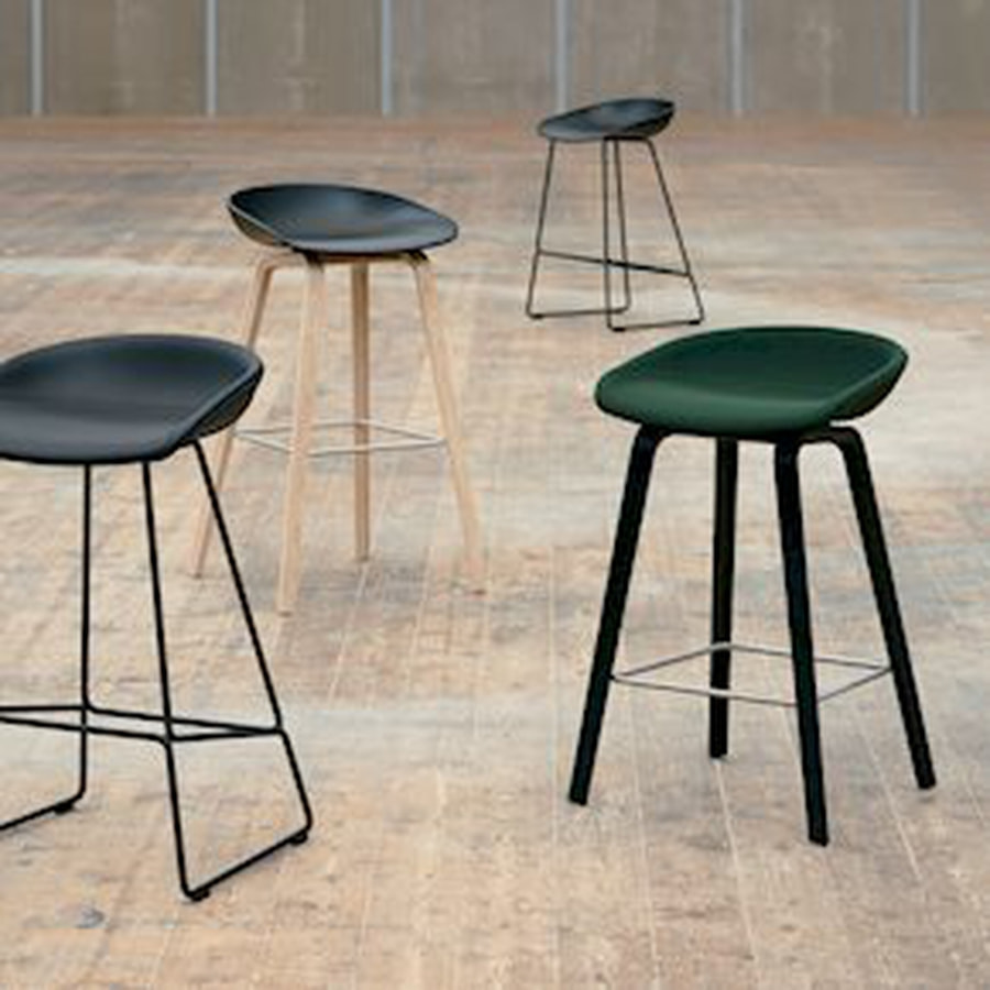 HAY 64cm SoftBlack/Soap Oak AAS32, About a stool