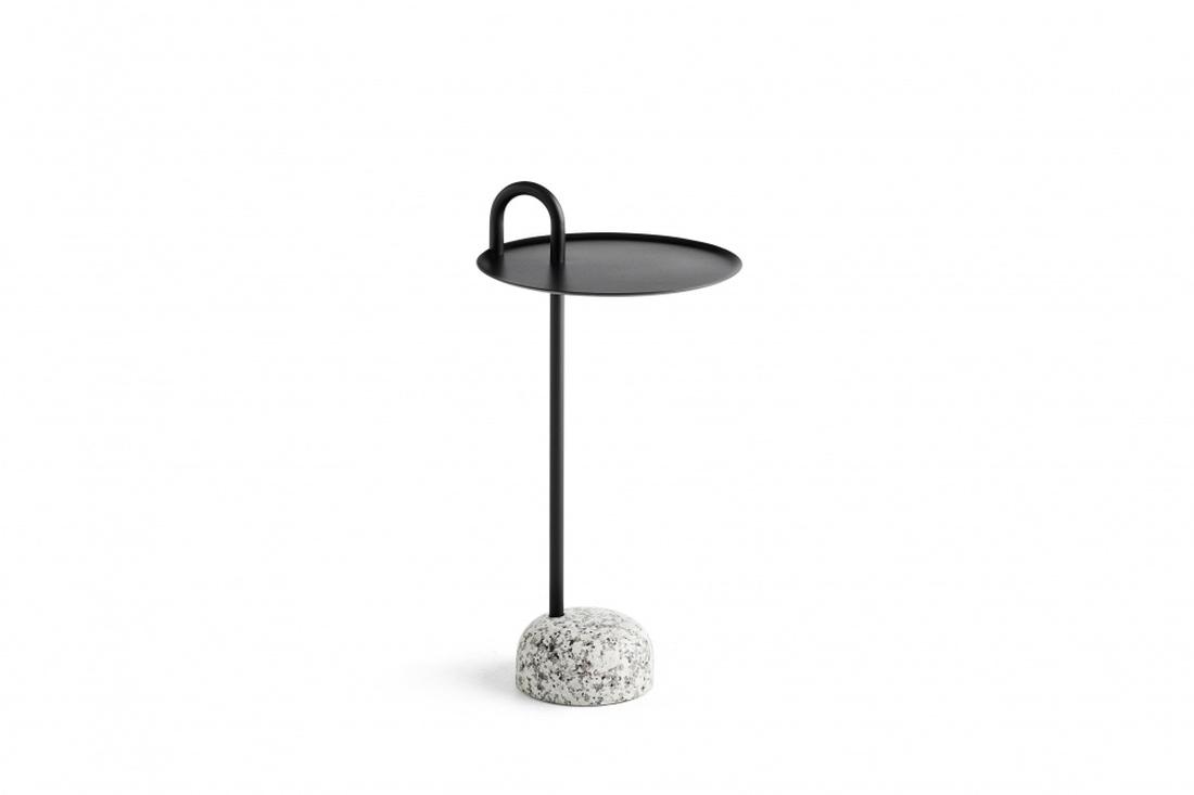 Hay Bowler Black Side Table, Sidebord i svart