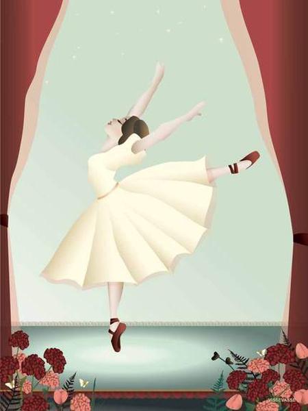 VisseVasse Ballerina Kort 15x21