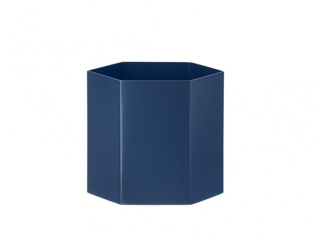 Hexagon Pot L Blue, Ferm Living