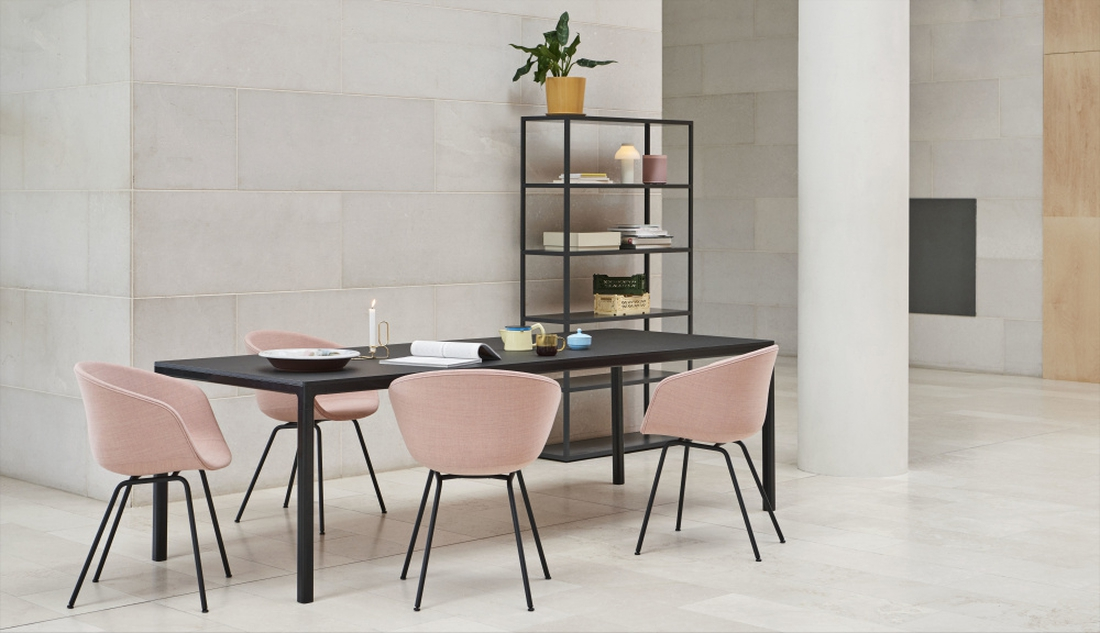 HAY T12 200 cm Spisebord, svart